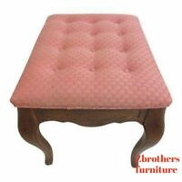 Ethan Allen Country French Carved Foot Stool Ottoman Stool B
