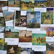 Lots 30 pcs Claude Monet Famous Paintings Impressionism Post cards Bulk