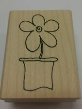Rubber stamp Flower Daisy in pot pwC3650