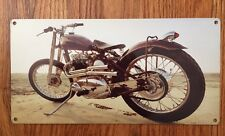 Triumph Norton Custom Motorcycle Moto Steve Mcqueen Photo PosterMetal Sign