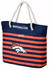 NFL Denver Broncos Women's Nautical Stripe Tote Bag