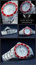 Advantage Cavadini Diver's Quartz Watch 30 Bar Solid Steel New Series NEW