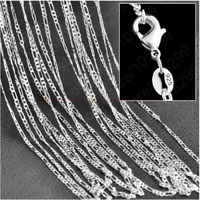 20Pcs 925 Sterling Silver Snake Chain Necklace Jewelry Gift 16-30inch Wholesale