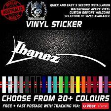 Ibanez logo Guitar vinyl Sticker Headstock Sticker decal left handed available