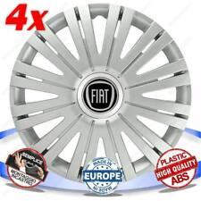 Set 4 Tapacubos Rueda Cubierta Ruedas Carcasas 16 Active Silver para Fiat Palio
