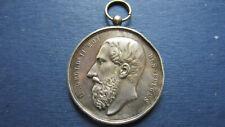 Medal Silver Leopold II Belgium 1895 Anderlecht-Cureghem Signed in Ss (1345)