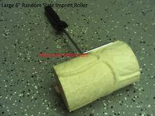 New 6 Large Flagstone Concrete Cement Landscape Curbing Texture Imprint Roller