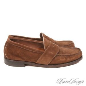 #1 MENSWEAR Rancourt Made Maine Weltline Orion Suede Full Strap Loafers 10.5 EE