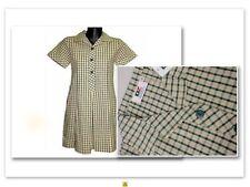 BNWT SIZE 4 CHEST 60cm GIRLS SCHOOL DRESS UNIFORM YELLOW / BOTTLE GREEN