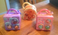 Lot Of 3 Littlest Pet Shop TEENSIES  teensiest tiniest Playsets & Accessories