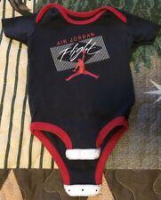 Nike Air Jordan Flight Baby Infant Romper Creeper Jersey Onsies 3-6M Red Black