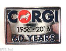 Official Licensed Corgi 60 Years 1956-2016 Anniversary Metal Enamel Badge NEW
