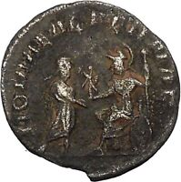 SALONINA wife of GALLIENUS 255AD Ancient Silver Roman Coin i45918