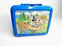 Mickey Mouse Vintage 80s Aladdin Swinging Bridge Plastic Lunchbox