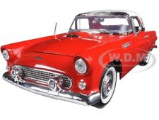 1956 FORD THUNDERBIRD HARDTOP RED 1/18 DIECAST MODEL CAR BY MOTORMAX 73176
