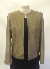 Vintage 50s 60s Gold Sparkly Evening Jacket Size By D Allan 10 12 Glamour