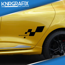 KNR0601 - RS SIDE FLAG RENAULT SPORT STICKER DECAL - CLIO Mk4 IV RS 200 220