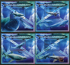 Burundi 2012 MNH Sharks from Greenland 4x 1v Deluxe S/S Shark Stamps