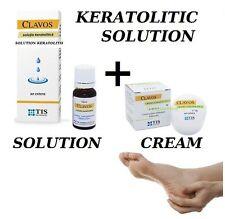 2 x BEST CALLUS REMOVER KERATOLITIC SOLUTION + CREAM HARD FOOT SKIN FREE