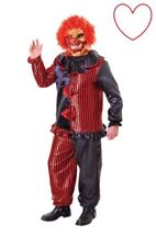 Zombie Clown Costume With Mask Fancy Dress Halloween Scary Mens