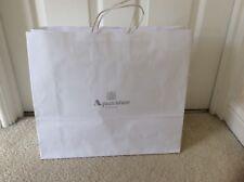 AQUASCUTUM LONDON Designer Tote Shopping Borsa Regalo Bianco E Argento H36xW42cm