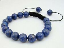 Shambhala bracelet all 10mm NATURAL LAPIS LAZULI STONE GEMS ROUND BEADS J33