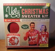 UGLY CHRISTMAS Sweater KIT~Make Your Own RED Hideous Christmas Sweater Size L