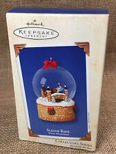 Hallmark Sleigh Ride - Winter Wonderland #2 - 2003 Snow Globe Ornament NIB