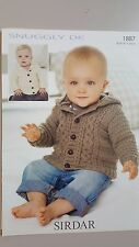 Sirdar Knitting Pattern #1887 to Knit Baby or Child's Cardigan or Hoodie 0-7 Yrs