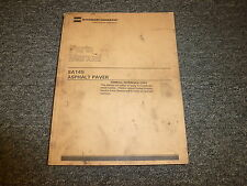 Caterpillar Cat SA145 Asphalt Paver Finisher Parts Catalog Manual Book