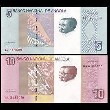 Angola SET 2 PCS, 5+10 Kwanzas, 2012(2017), P-NEW, UNC