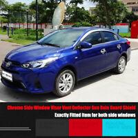 Windows Chrome Vent Visors Guard Sun Shield Deflectors For Toyota YARiS