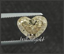 Diamant im Herz Schliff 0,47 ct mit Zertifikat, Natürlich zart champagner / VS2