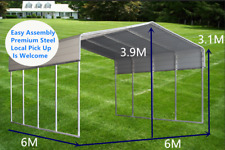 BM 6x6M Carport Kit Backyard Shade Shelter Portable Shed Carports Gazebo Pergola