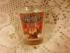 HAPPY HAWAIIAN   DRINK RECIPE WITH FAMOUS HAND SIGN INSIDE NICE SHORT SHOT GLASS
