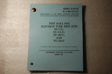 """TV-7 Tube Tester Updated  100+ Pages Tube Test Data Manual 5x7"""" Mini"""