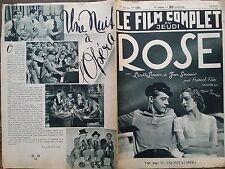 """LE FILM COMPLET 1936 N 1833 """" ROSE """" avec LISETTE LANVIN  et JEAN SERVAIS"""