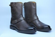 Bally Viator Coconut Brown Grained Calf Leather Stylish Dress Boots Size 8.5 D
