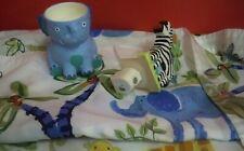 Jungle Theme Bath Accessories Shower Curtain Zebra Nightlight Elephant Tumbler