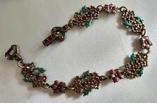 Vintage Highly Detailed Bracelet - Mini Rhinestones - EUC - Fashion - Costume
