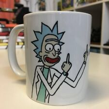Rick and Morty Rick Sanchez Middle Finger Mug - Flipping The Bird Coffee Cup