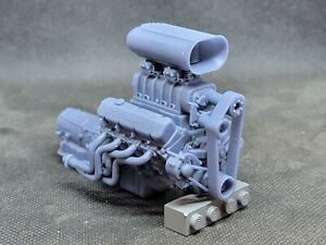 Blown 572 BBC model engine resin 3D printed 1:32-1:8 scale