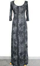 Nuevo Con Etiqueta Dorothy Perkins Maxi Vestido Gris Mezcla Leopardo Animal Print-falta Cinturón 10