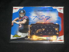 TOM SAVAGE TEXANS ROOKIE CERTIFIED AUTOGRAPHED SIGNED FOOTBALL JERSEY CARD /99