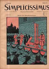 1897 Simplicissimus November 20-Guillotine; Doctor ; Art Nouveau-Extremely Rare