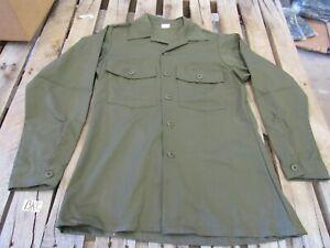 US Army NOS Utility Shirt OG507 Cotton 1970's original 15 1/2 x 33 (BKC)