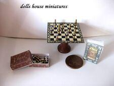 DELUX Scacchi Tavola Casa delle Bambole Miniature