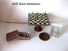 Mesa De Ajedrez Delux de casa de muñecas miniaturas