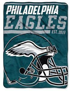 Nwt New Philadelphia Eagles NFL Football Helmet Logo Plush Throw Blanket Fleece