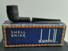 1966 Dunhill Shell 925 Sterling Silver Band 111 Estate Pipe Group 3 Pipa Pfeife